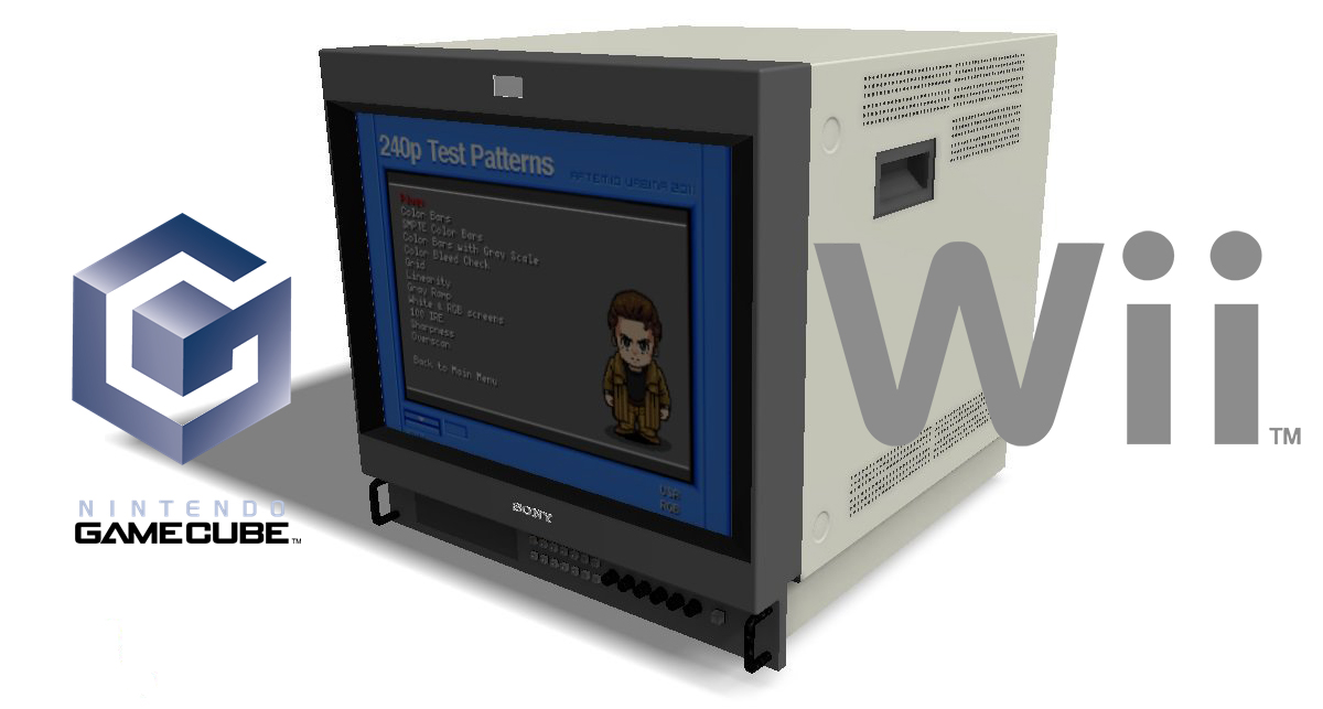 Wii and GC Versions of the 240p Test Suite Updated