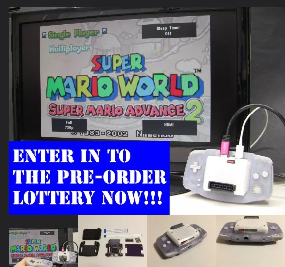 "GBA Consolizer Pre-Order ""lottery"" Open"