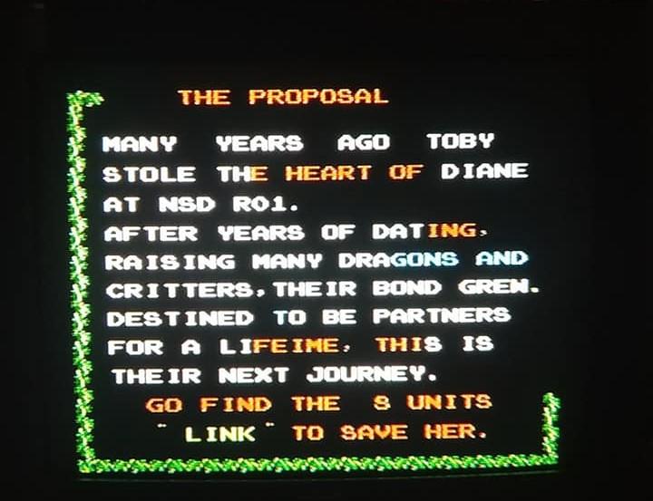 A marriage proposal Zelda hack