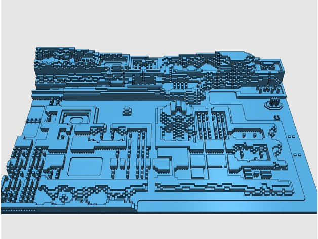 picture about Free 3d Printable D&d Miniatures named 3D Posted Zelda Map RetroRGB