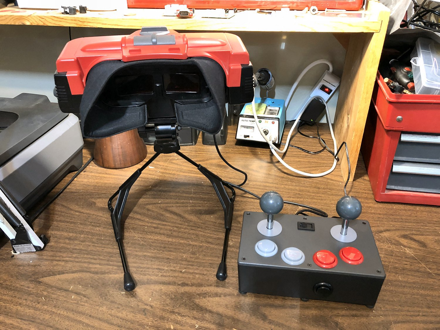 World's First Virtual Boy Dual Arcade Stick