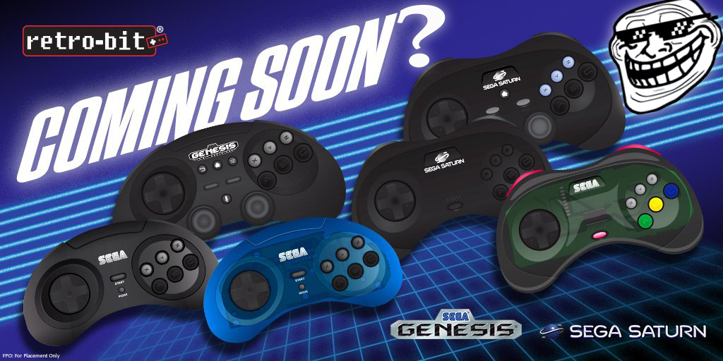 Retro-bit's Sega Controllers Pushed Back to Summer 2019