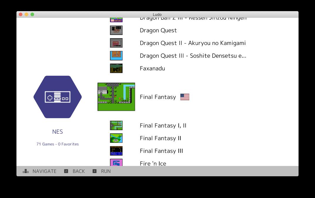 Ludo: Minimalist Emulator Frontend by Libretro (RetroArch)