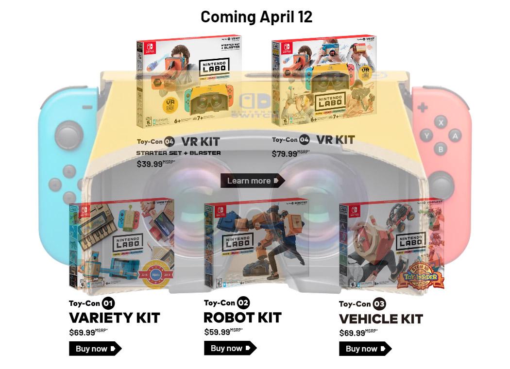 Nintendo Labo VR Announced