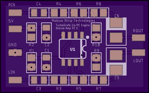 PC Engine/TurboGrafx 16 Internal Stereo Amplifier