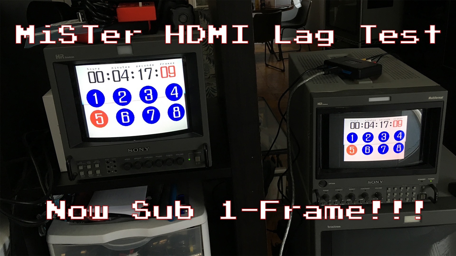 MiSTer HDMI Core Now Sub 1-Frame Of Lag