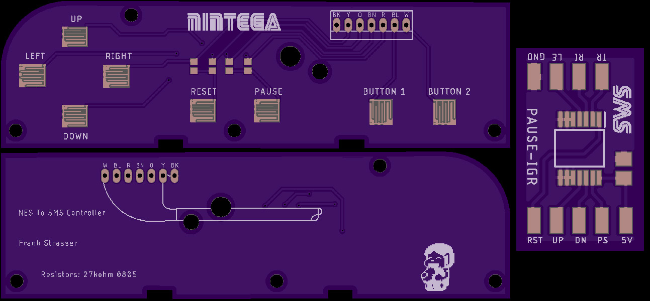 NES to SMS Controller Board