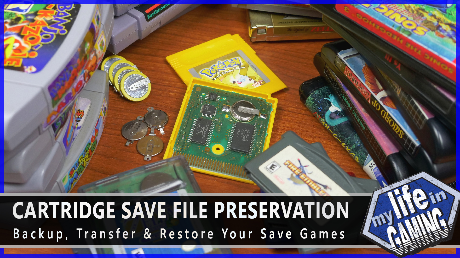 Cartridge Save File Preservation from My Life in Gaming