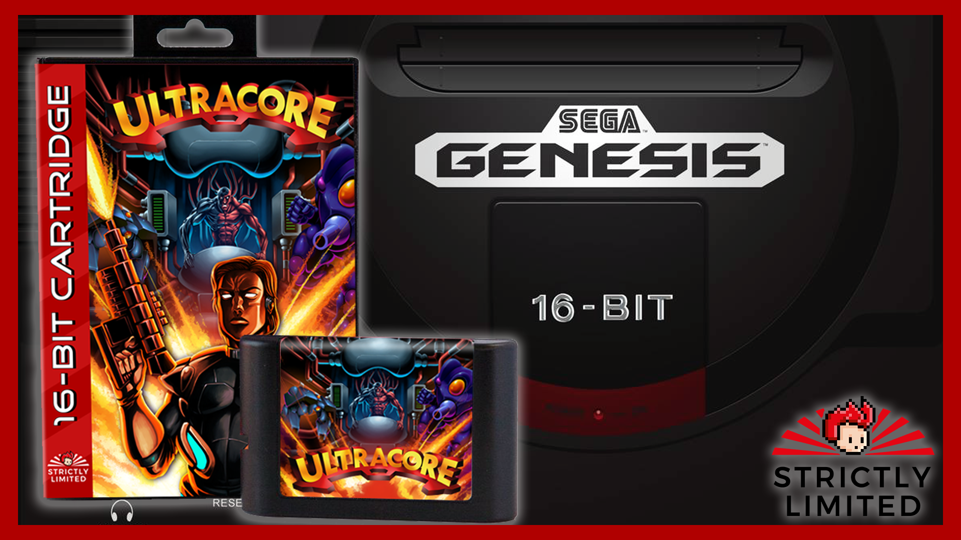 Ultracore Physical Copy for the Genesis / Mega Drive Announced