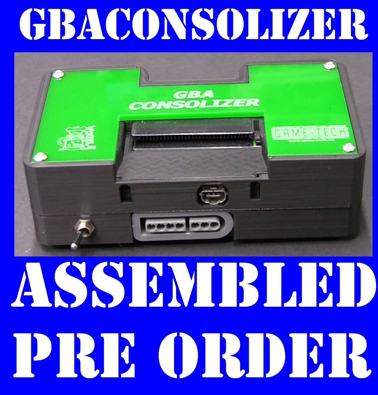 Fully assembled GBA Consolizer by Game-Tech US