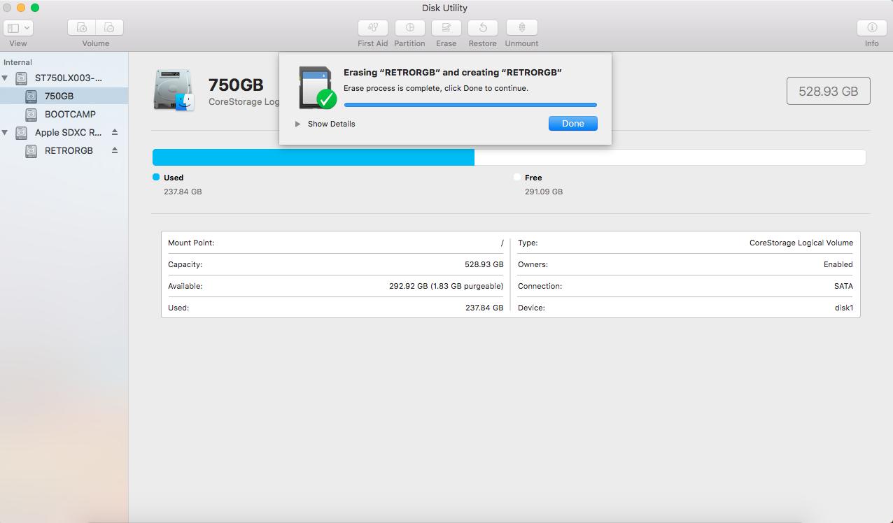 Format Large SD Cards FAT32 | RetroRGB