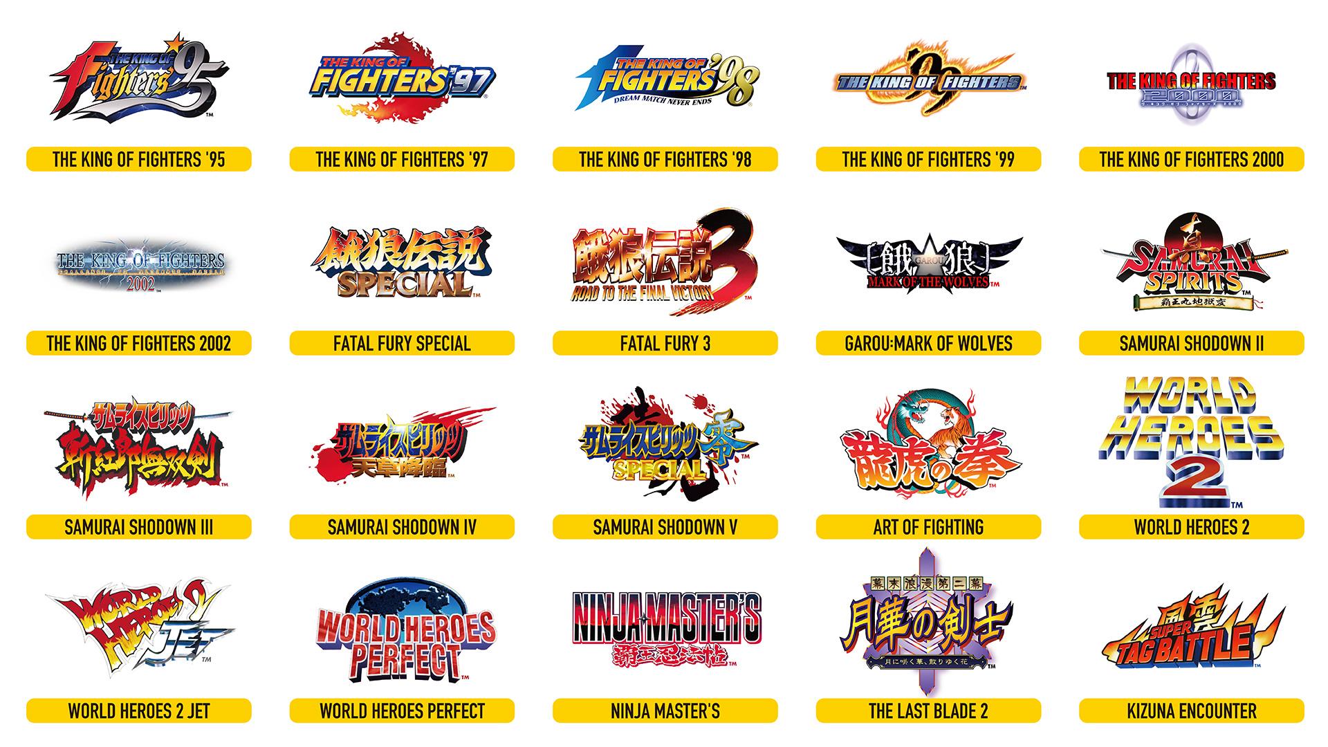 Neo Geo Arcade Stick Pro pre-installed games announced