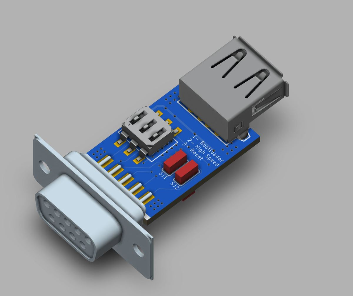 Wireless mouse adapter for the Atari ST/Amiga