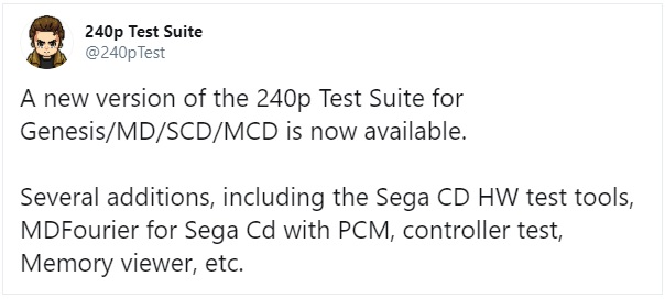 Genesis / Mega Drive 240p Test Suite Update
