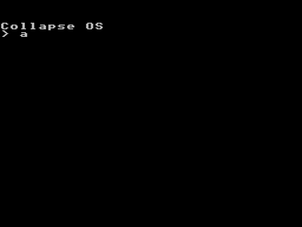 collapseos Z80-based Operating System