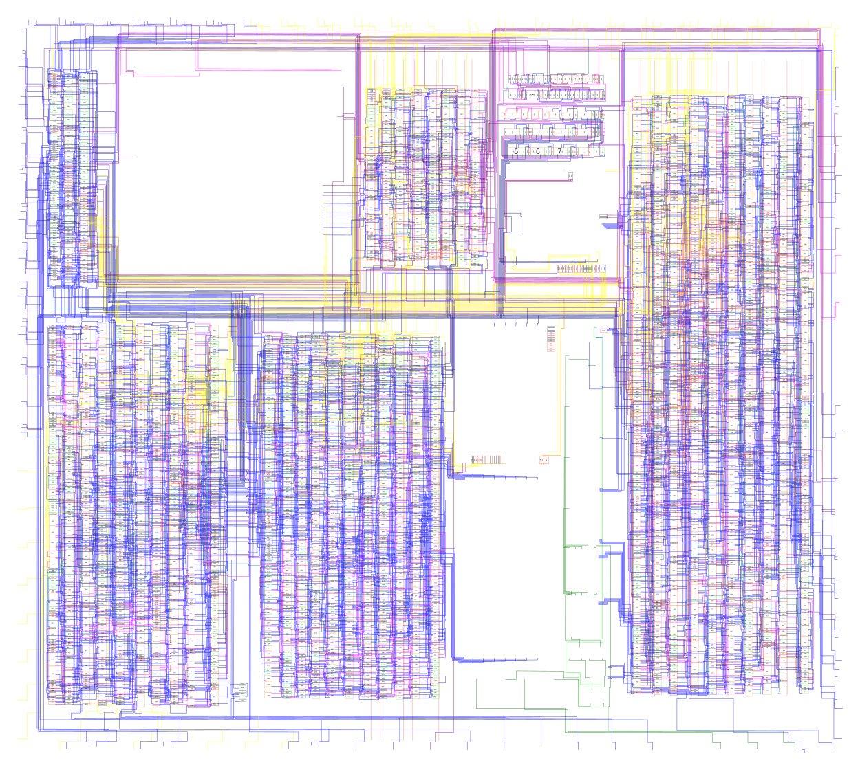 Reverse-engineered schematics for the original Game Boy by Furrtek