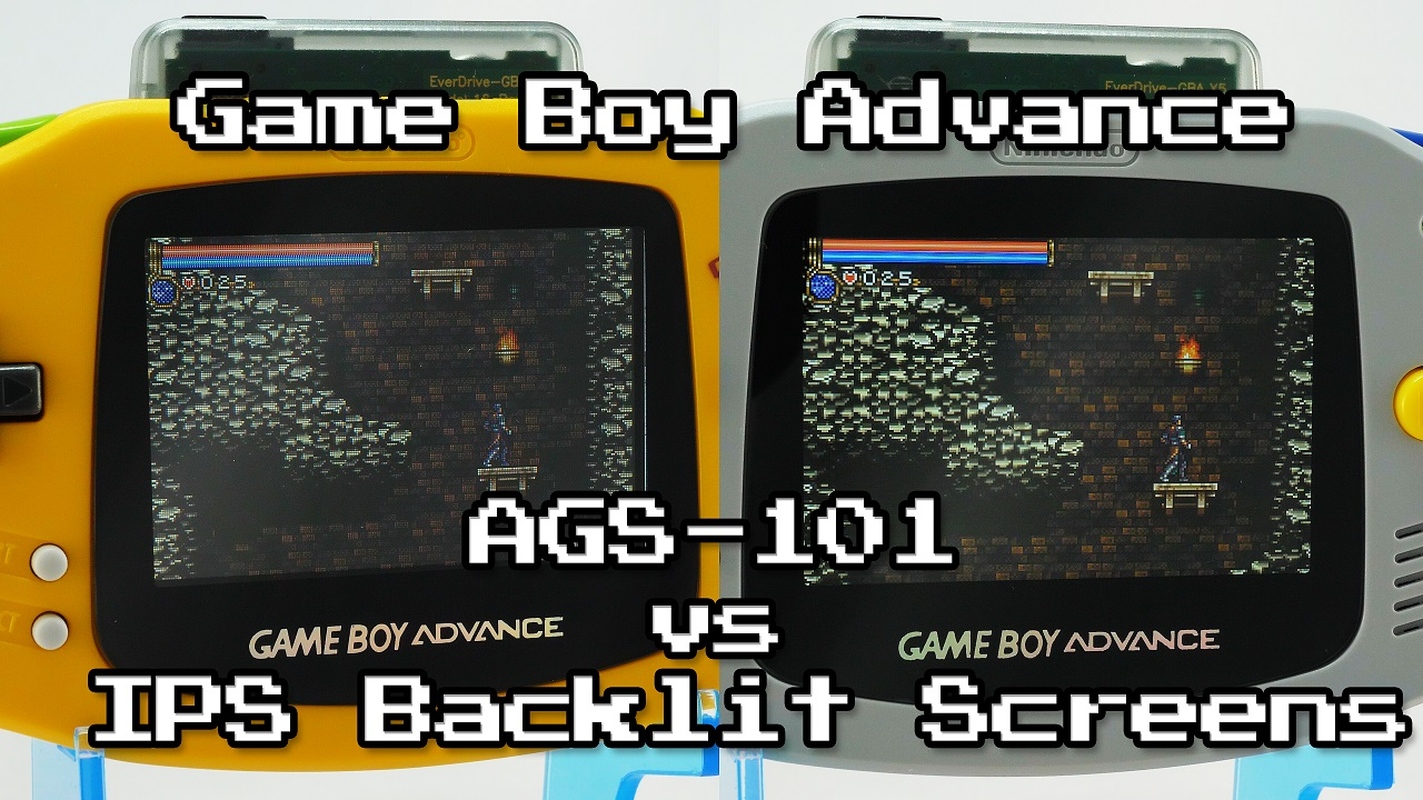 New GBA IPS Screen Comparison