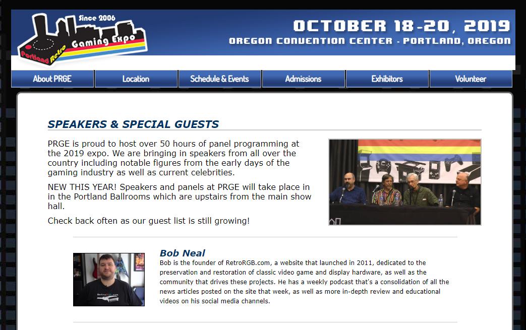 RetroRGB Panel at PRGE – Saturday, October 19th at 6:30PM in Auditorium B