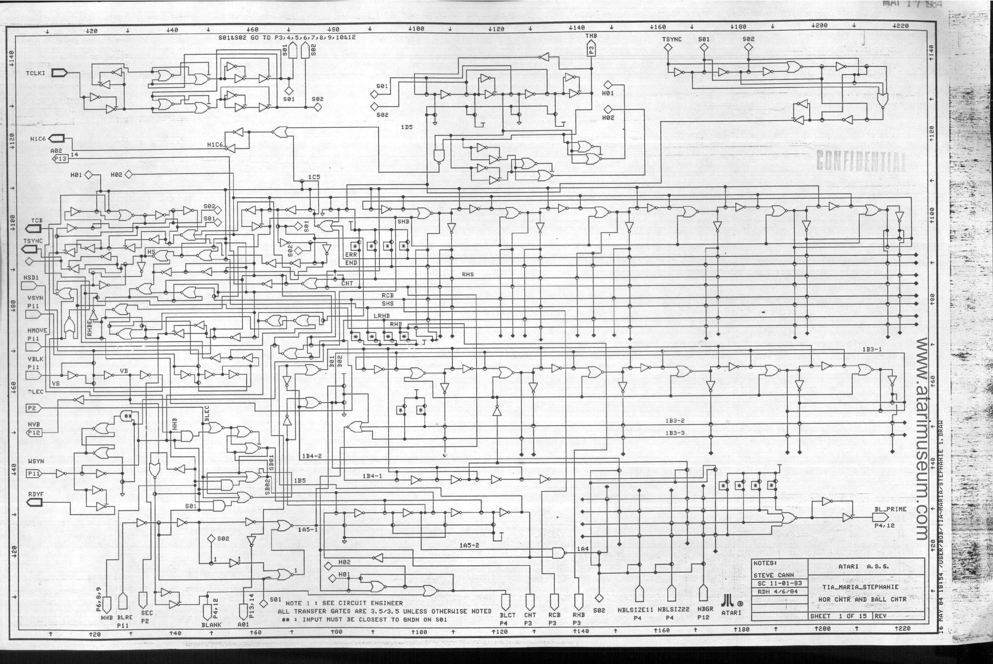 Atari 7800 Schematics Found in Dumpster Treasure Trove
