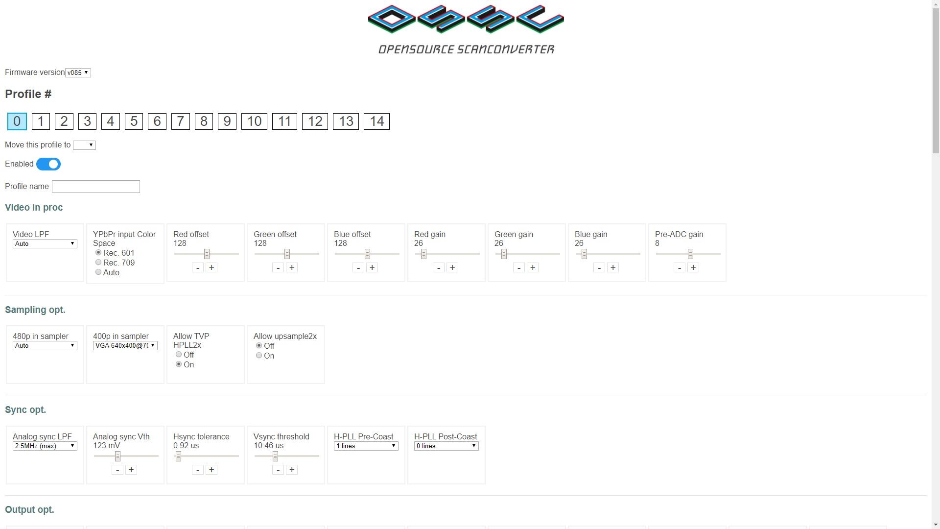 OSSC Profile Maker