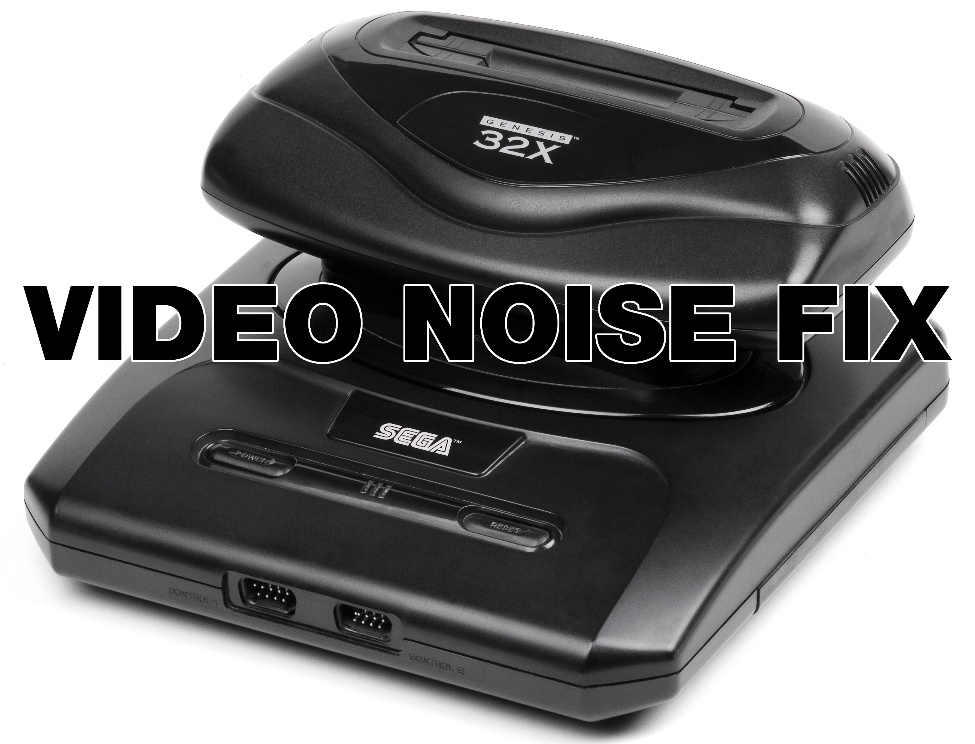 Sega 32X Video Noise Fix by Kevtris