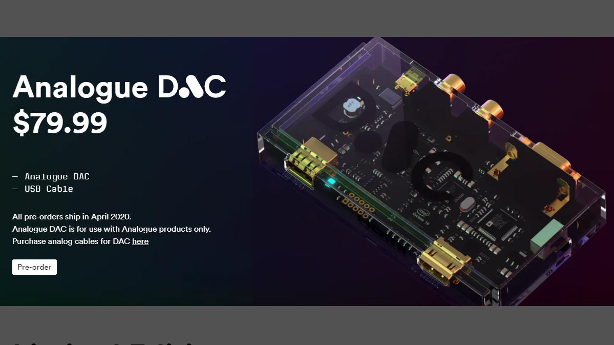 Analogue DAC Pre-Orders, Mega Sg Cartridge Adapters