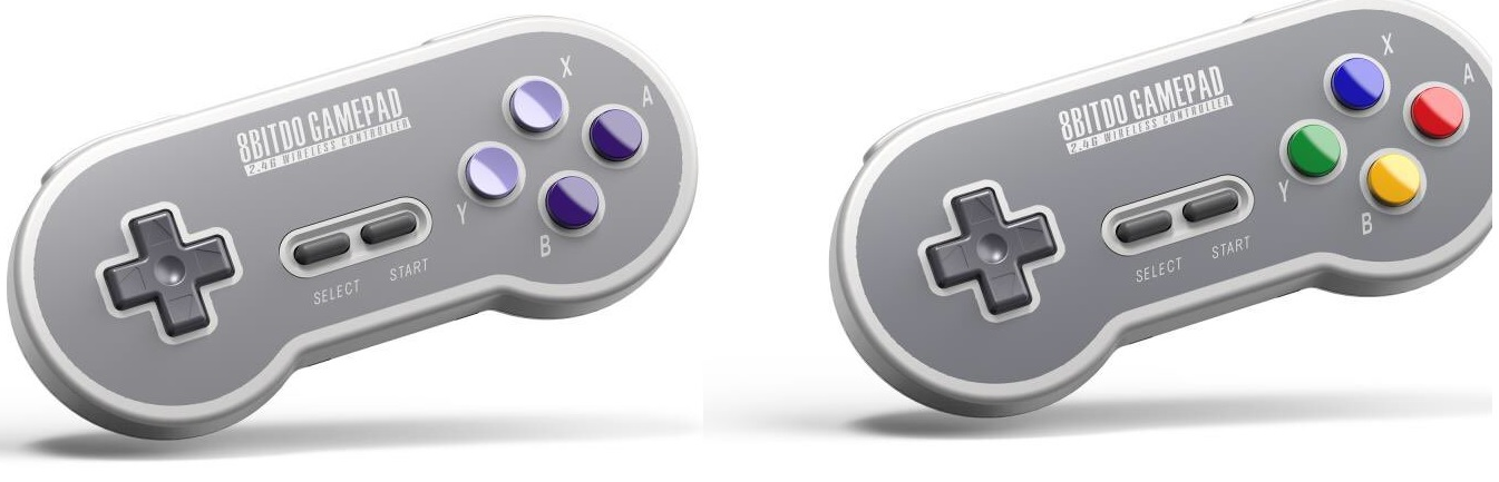8BitDo 2.4 GHz SNES controllers